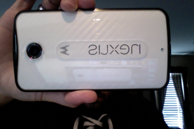 Midnight Blue Nexus 6 with white carbon D Brand skin and ringke Fusion smoke case-photo-2-28-15-11.28-am.jpg