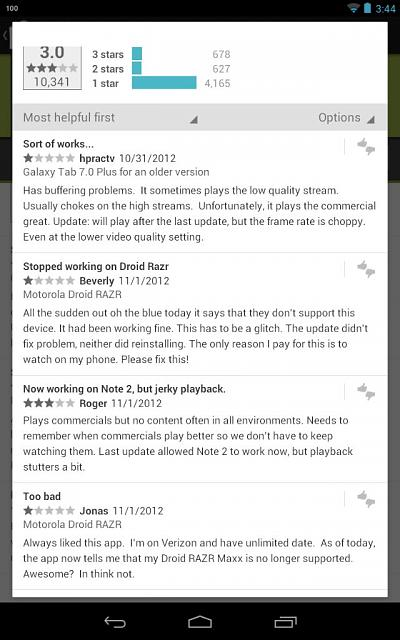 Hulu+ No Longer Works w/ Nexus 7?!? - Android Forums at