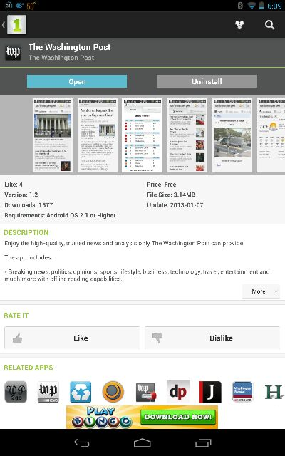 Washington Post App in Play Store-uploadfromtaptalk1361239965796.jpg