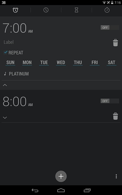 How to remove alarms from the clock? - Android Forums at