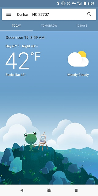 Probably a dumb question (Google weather frog) - Android Forums at