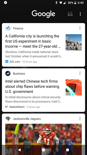 Google feed not working - Android Forums at AndroidCentral com