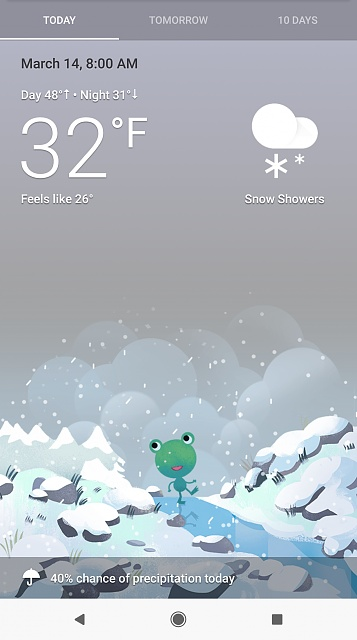 Google weather with frog | How to Get Google's Hidden Weather App on