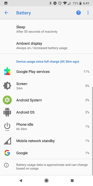Pixel 2 XL Battery: Is Android System and/or Google Play Services Draining Me?-screenshot_20180316-184133.jpg