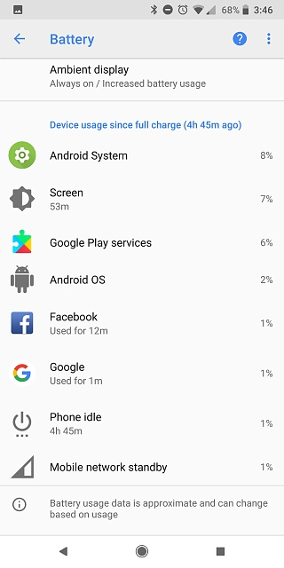Pixel 2 XL Battery: Is Android System and/or Google Play Services Draining Me?-screenshot_20180317-154644.jpg