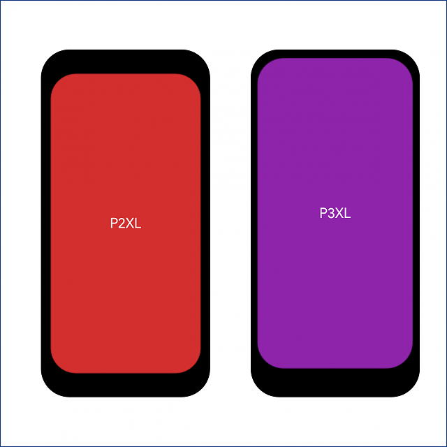 Pixel 3 and 3 XL Display Size Comparison to the Pixel 2 and Pixel 2XL-p2xp3x.png