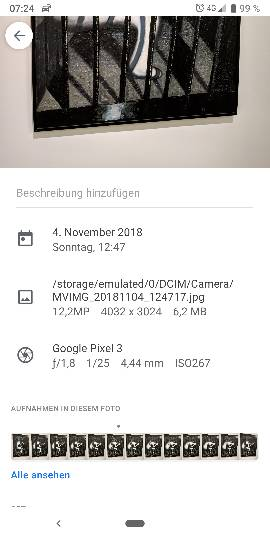 Where is the Google lense button gone in Google photos app on my Pixel3-6525.jpg