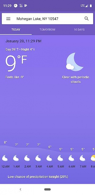 Temperature suddenly disappeared from my home screen   - Android