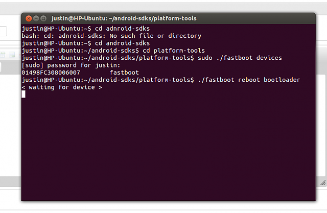 Fastboot command stuck on waiting for device - Android Forums at