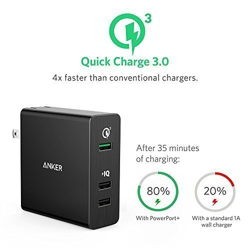 Quick Charge 3.0, Anker 3-Port 42W USB Wall Charger PowerPort+ 3 with Quick Charge 3.0 for Samsung G-41crfudjanl.jpg