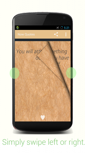 [APP][2.1 +] Now Quotes -  Health for the mind.-nexus4swipe.png