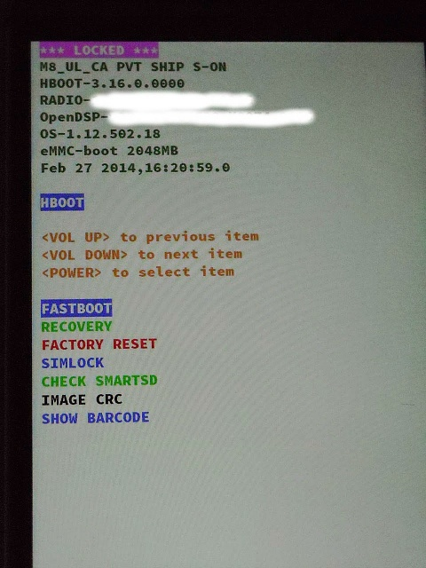 Guide How To Reboot Into Stock Recovery On Htc One M8