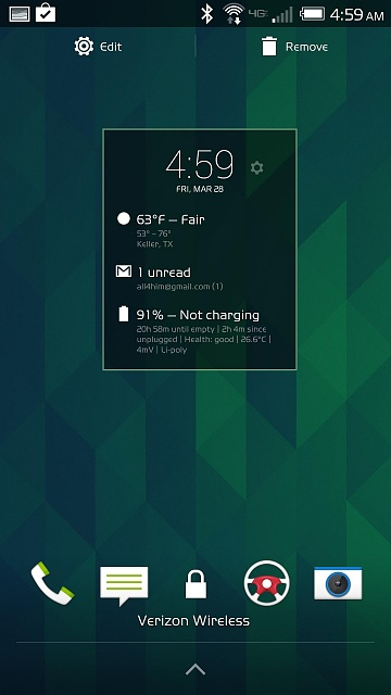 HTC One (M8): Anyway to get rid of the built in time/weather widget on the lock screen?-n3el1tw.jpg