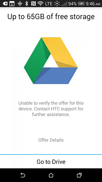 Htc One M8 Google Drive Free Storage Unable To Verify The