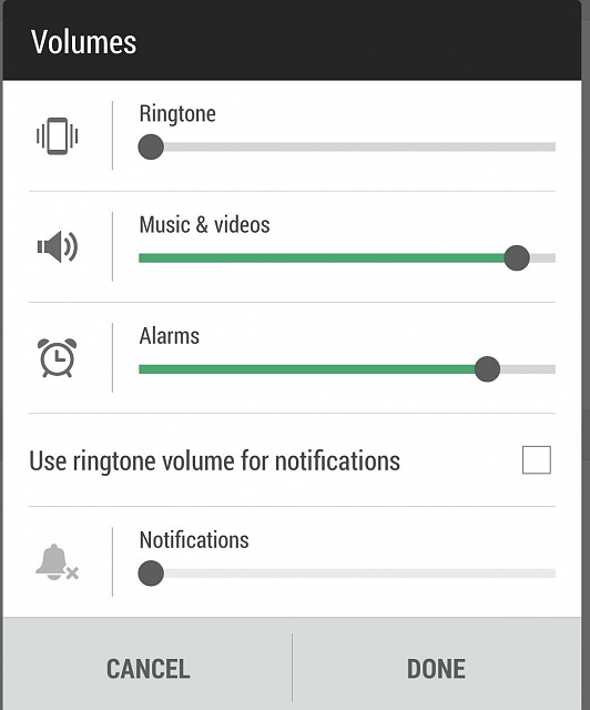 Various Sprint HTC One (M8) Questions.-volume-settings-screen.jpg