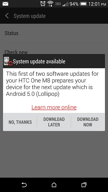 Looking for any proof that the Verizon HTC One M8 Lollipop update is rolling out.-uploadfromtaptalk1425574918561.jpg
