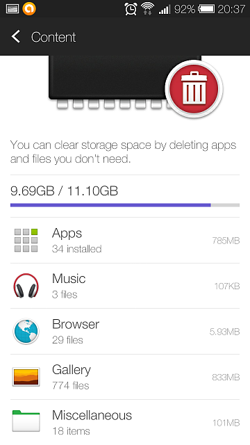 Htc One Mini Storage Problem S Taking Up More E Than Actually Installed