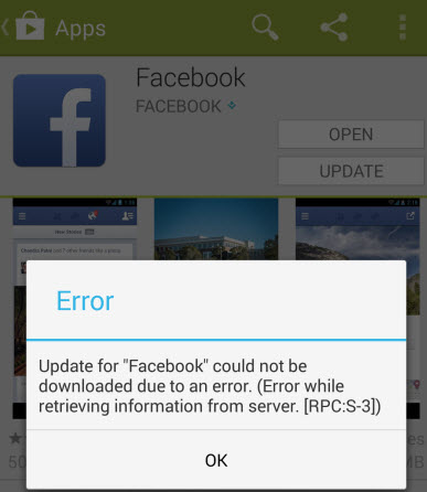 [RPC:S-3] error occurring only on a facebook google play update-facebookupdateerror.jpg