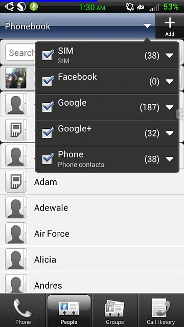 New Phone Contacts List Has Doubled Android Forums At