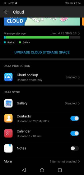 How can I free up space using the Huawei gallery app?-119647.jpg