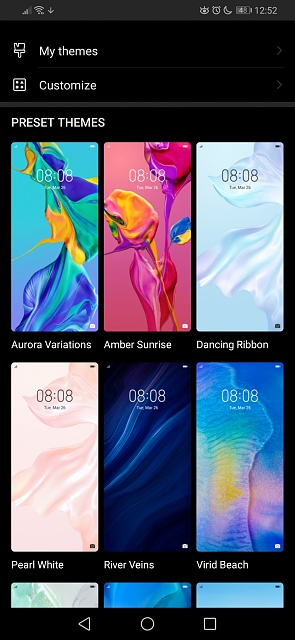 Themes: Only 12 preset ones? - Android Forums at