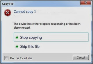 The device has either stopped responding or has been