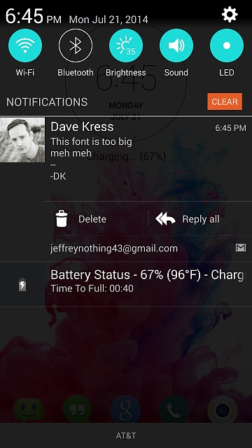 Font size on Notification Pull Down / Tray - Android Forums at ...