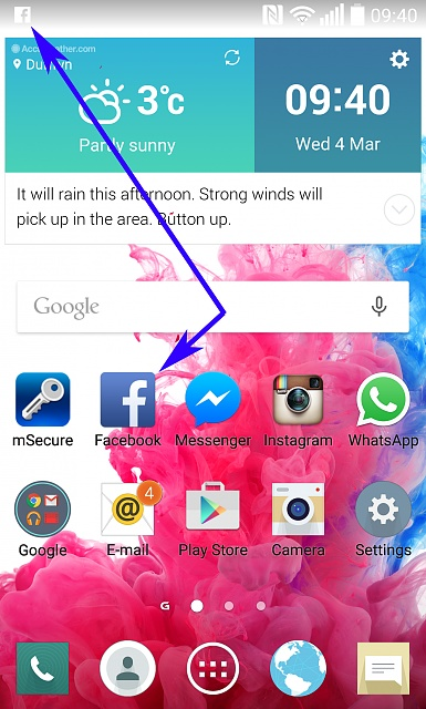 Facebook and Whatsapp NOT showing number of notifications on Icon only in the status bar.-facebook-icon.jpg