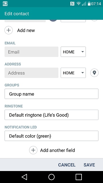 set different ringtones for contacts android