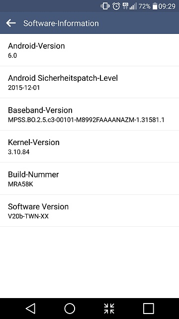Change Software Version (country spec) on LG G4? - Android
