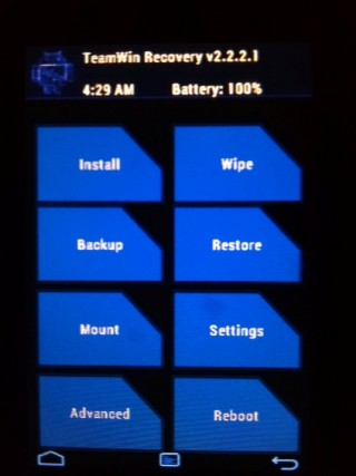 RECOVERY] TWRP 2 3 / 2 2 2 1 TEAMWIN touch recovery - Android Forums