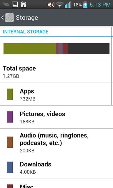 Insufficient Storage Available msg but I have ample space