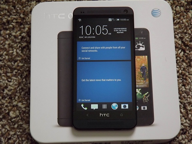 Excellent Condition AT&T Black 32GB HTC One with UAG Case-htc-one-front-backlight-.jpg
