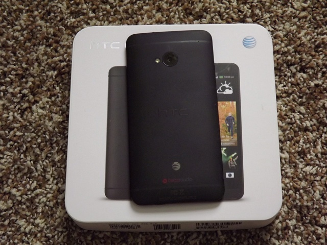 Excellent Condition AT&T Black 32GB HTC One with UAG Case-htc-one-back.jpg