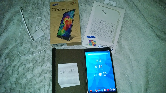 Mint Condition Samsung Galaxy Tab S 8.4 16GB w/ Samsung Book Cover (Black/Brown)-img_20140806_183619132.jpg