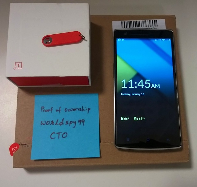 ++MINT++ OnePlus One 64GB Sandstone Black +Case+Tempered Glass Screen Protector-wp_20150113_009.jpg