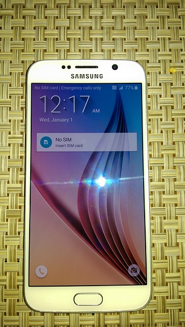 Pearl White AT&T Samsung Galaxy S6-64GB-phone-front-1.jpg
