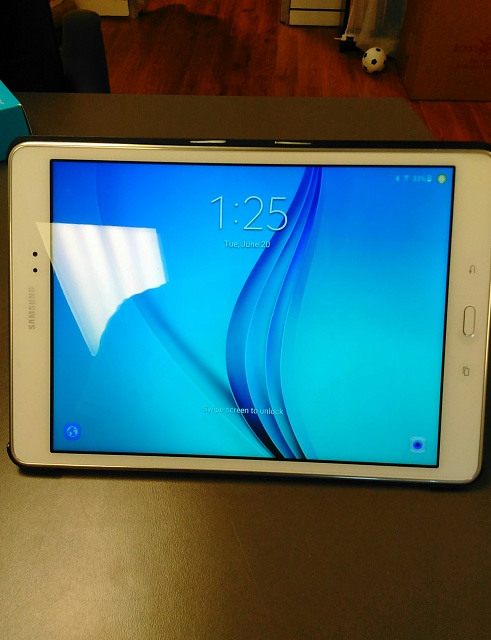 Samsung Galaxy Tab A Bundle 16GB, 9.7in, White w/ Charger, Case & Screen Protector-img_20170620_132518.jpg