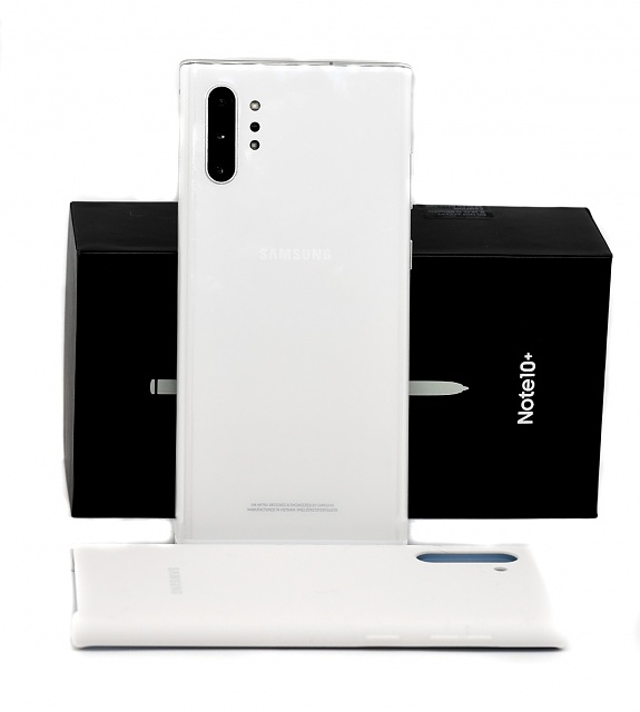 Verizon Aura White Galaxy Note10+ and Samsung Silicone Case-note10-2.jpg