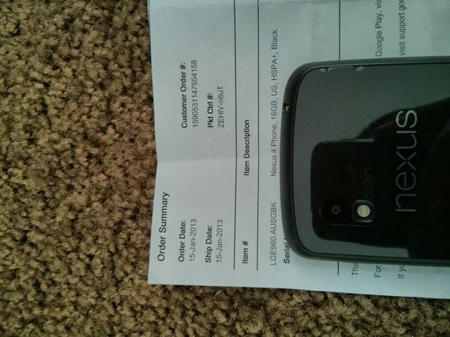 Factory unlocked 16GB iPhone 5 black slate with applecare +-uploadfromtaptalk1359310979054.jpg
