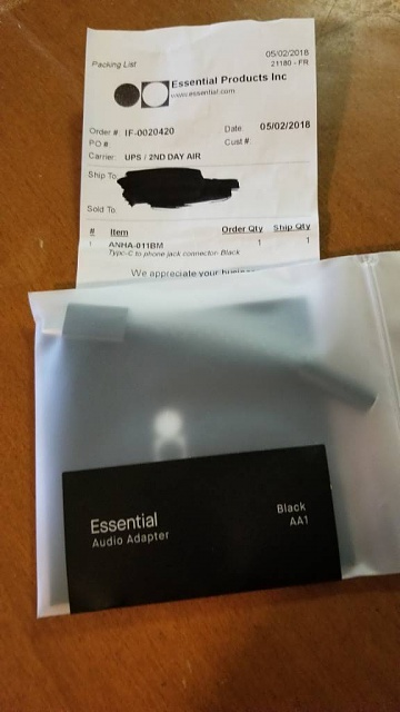 Essential Phone PH-1 cases (2) Essential oem headphone adapter. All Items are new sealed in package-20180507_104537.jpg