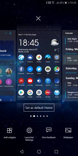How to change the Home screen in Microsoft Launcher?-16604.jpg