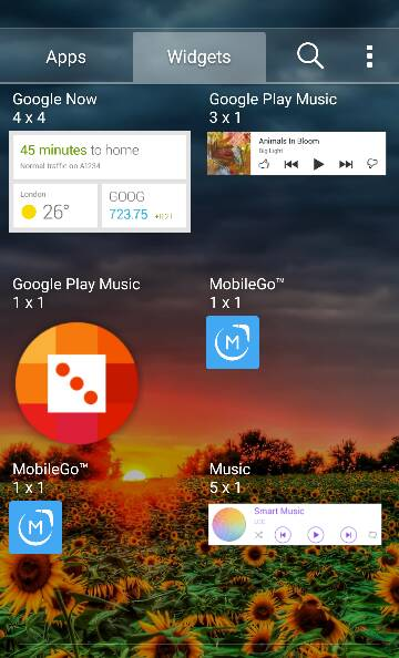 Clock Widgets Not Pre-installed with OS (Android 5.1.1 Lollipop) LG Premier LTE-390.jpg