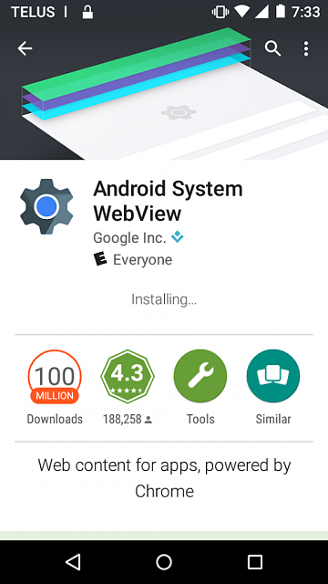 Android System WebView: Installing for over 40 minutes-sc01.png