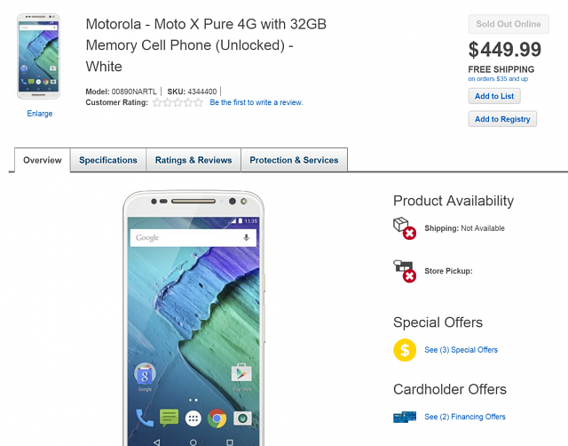 US: Moto X Pure Edition at Best Buy-bbsoldout2.png