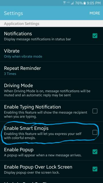 Verizon Message+: Stop the emojis suggestions in texts-screenshot_2016-03-13-21-05-46.jpg