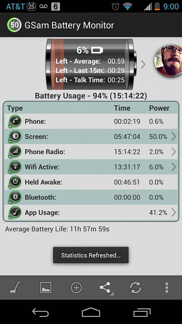 Battery: 100% to 88% in 1.5 hours with 5 min screen time-uploadfromtaptalk1380137640206.jpg