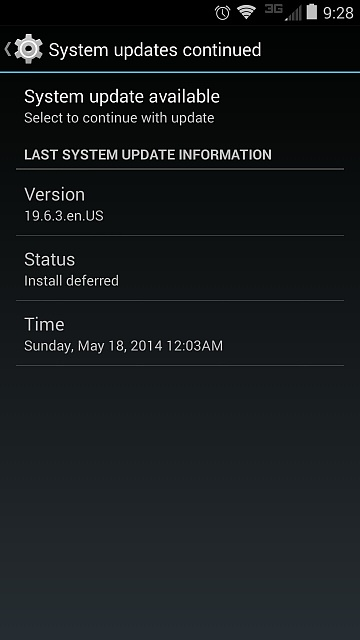 Maxx says there is an update available, but there's not??? Screenshots....-screenshot_2014-07-05-09-28-05.jpg
