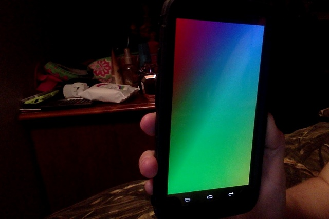On my Droid Turbo, why do I have rainbow colors while charging?-droid-turbo.jpg