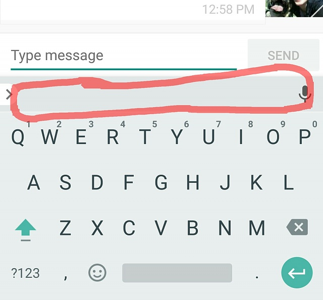 Issue with swiftkey in messaging after MM update-no-words.jpg